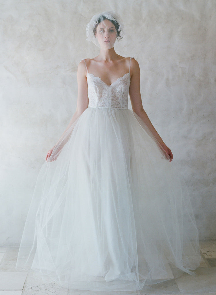 Jubilee - Lace and tulle ballgown - Style #TH004 | Twigs & Honey ®, LLC