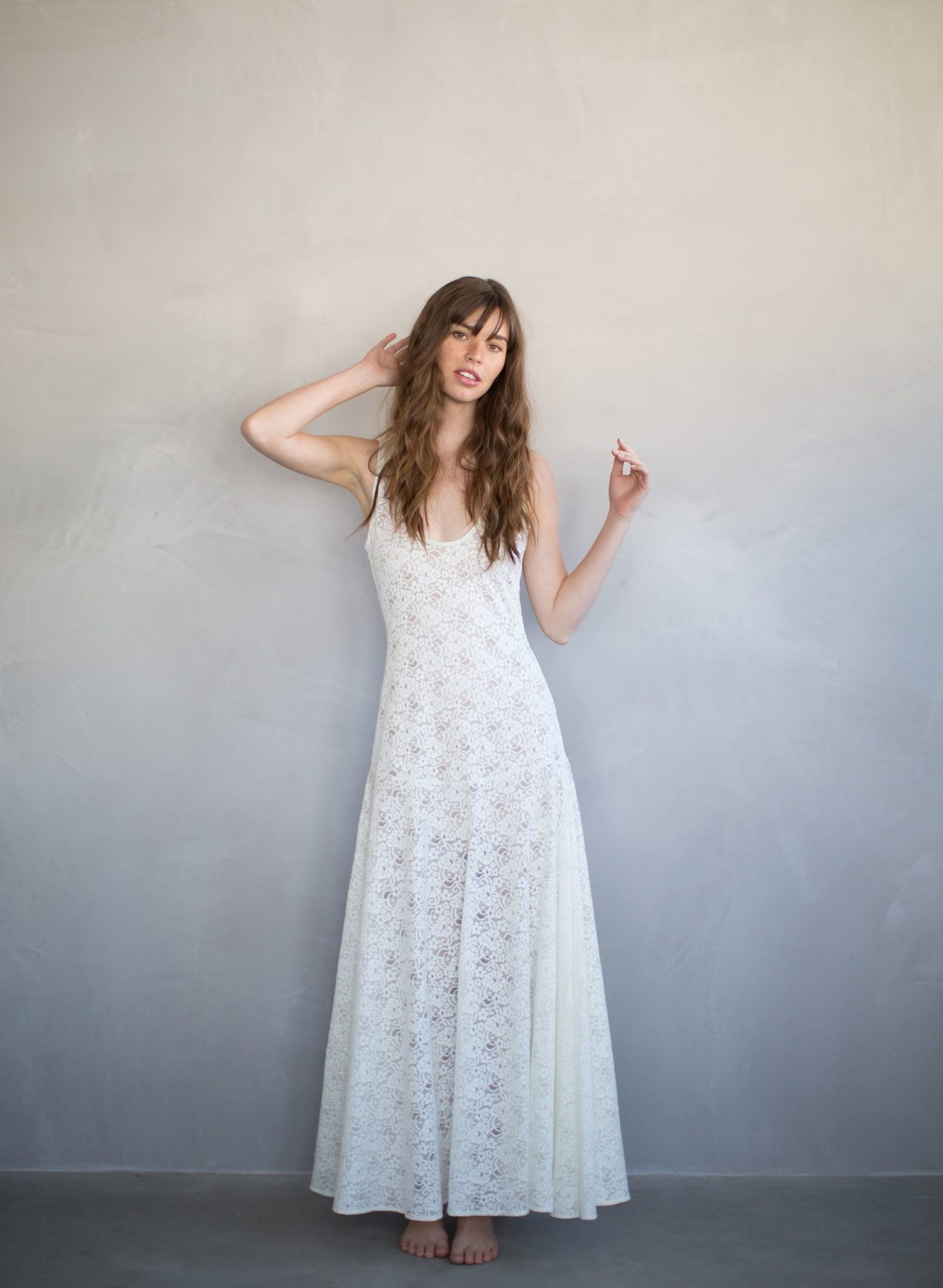 official store arrives differently Meringue - Lace slip dress, beach wedding, lingerie -TH707 | Twigs ...