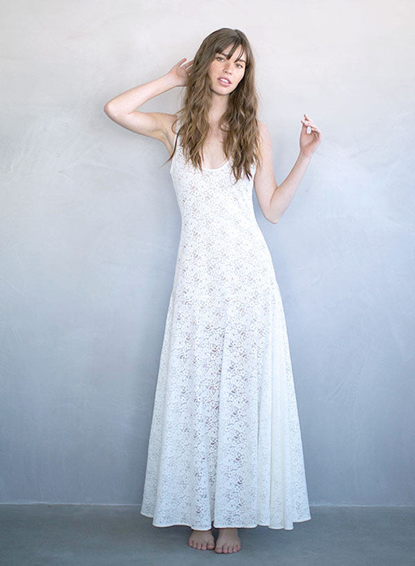 Meringue - Lace slip dress - Style # TH707