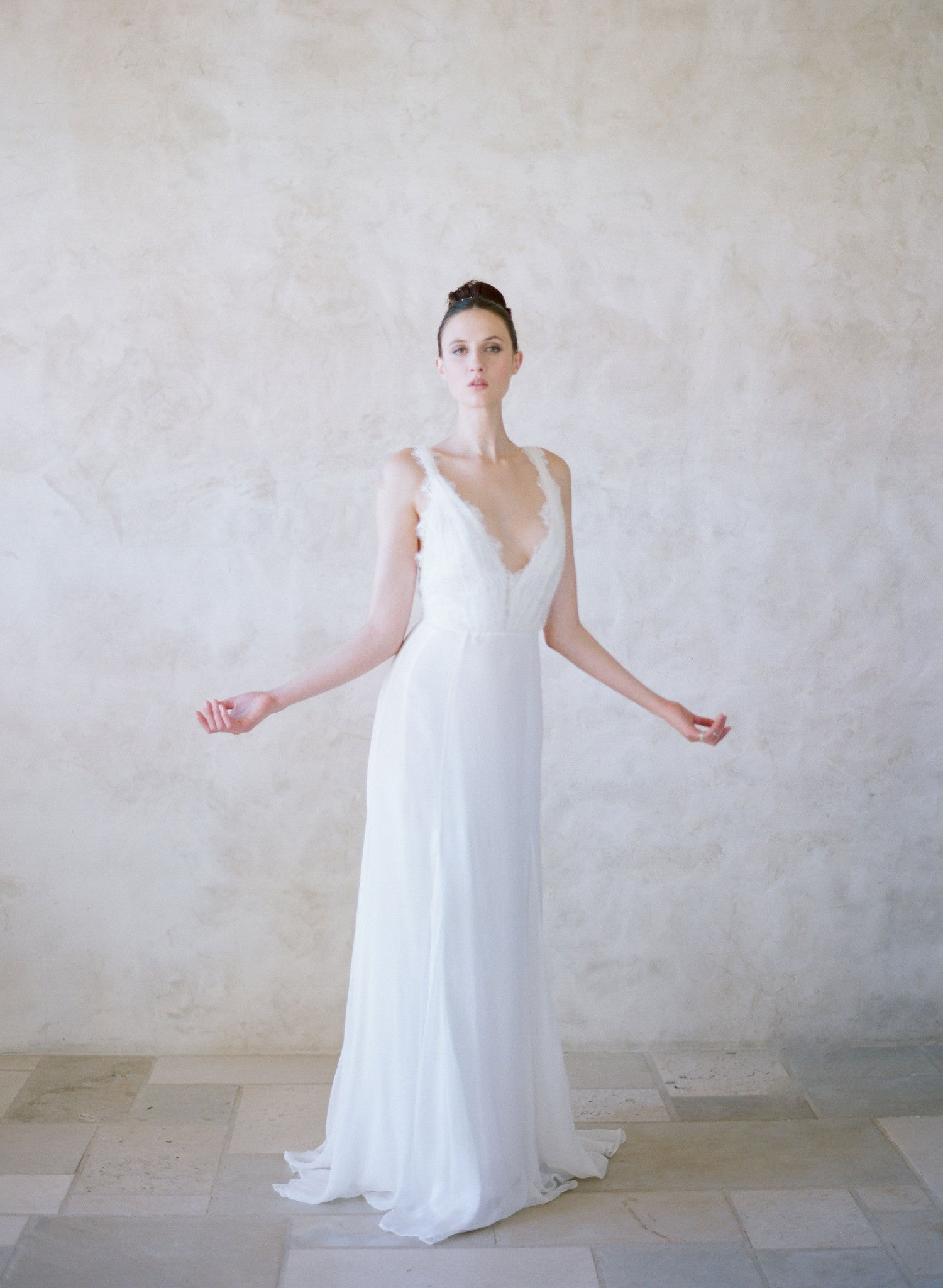 Pacific - Grecian inspired lace and silk gown - Style #TH003 | Twigs ...