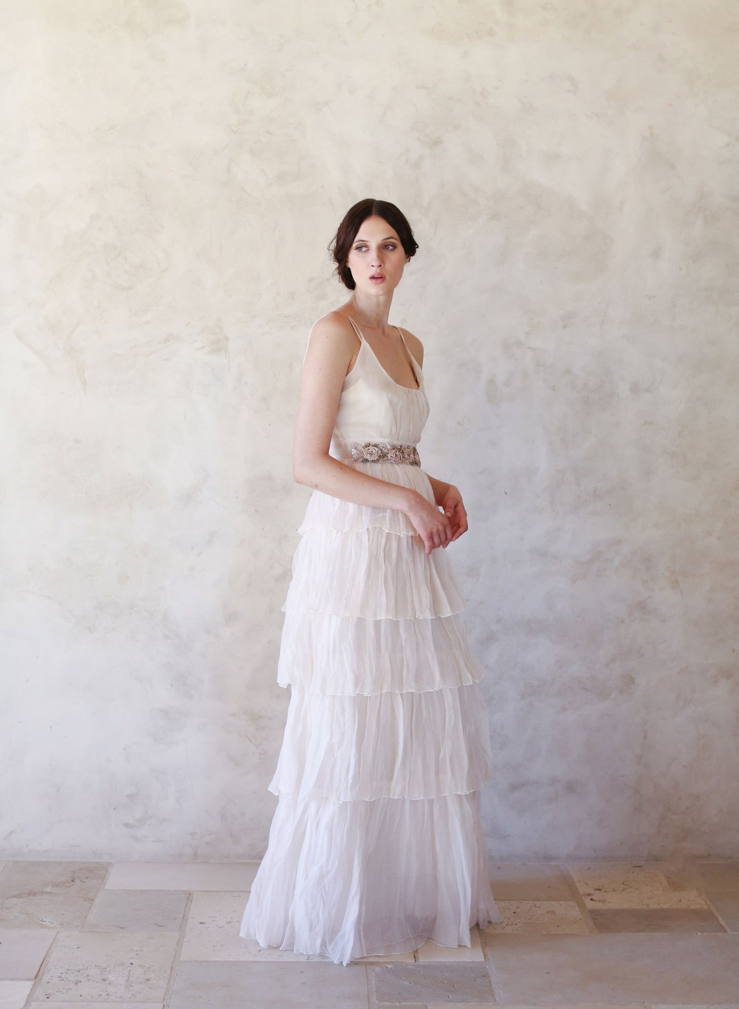 Roslyn - Crinkle tiered silk organza gown - Style #TH017 | Twigs ...