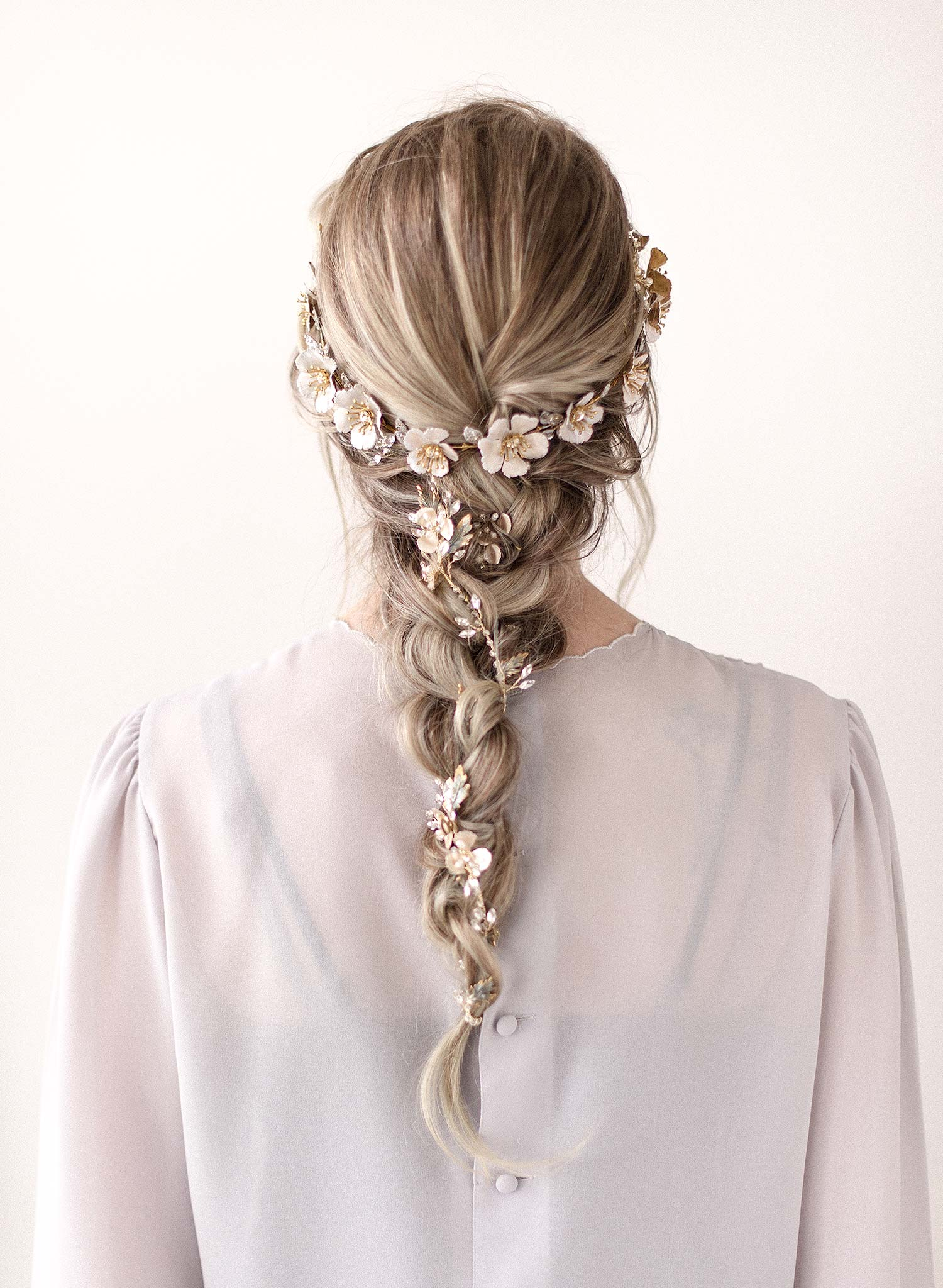 White patina flower crown - Style #926