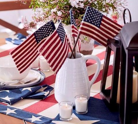 4th of July garden flags
