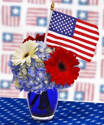 4th of July Blue Vases