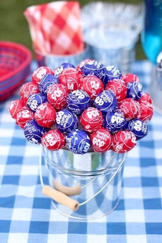 4th of July Lollipop Centerpiece