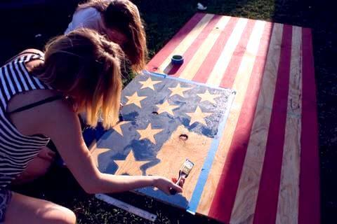 Patriotic Beer Pong Table