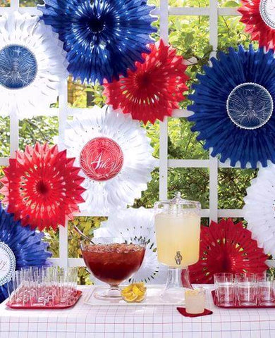 Patriotic Tissue Fans Decorations