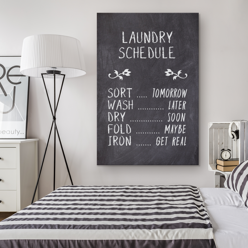 Laundry Schedule Sign - Gallery Wrap