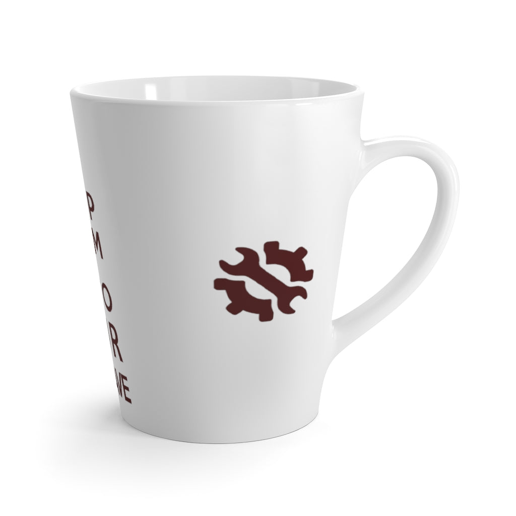 Keep Calm & Go To Your Man Cave Latte Mug