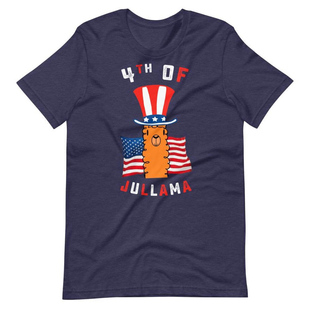 4th of July Llama Navy Shirt
