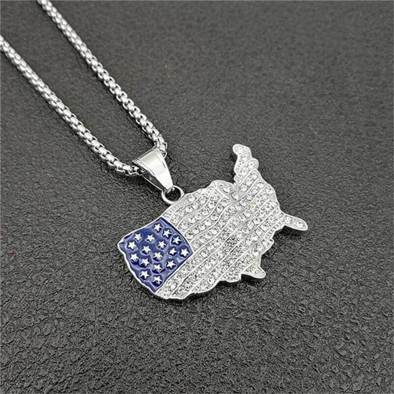 4th of July Necklace - American Flag