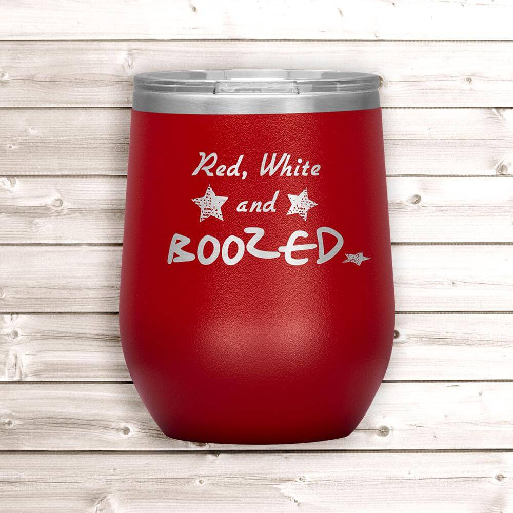 4th of July Wine Tumbler - Red