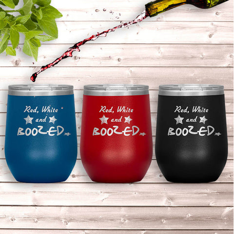 4th of July Wine Tumblers