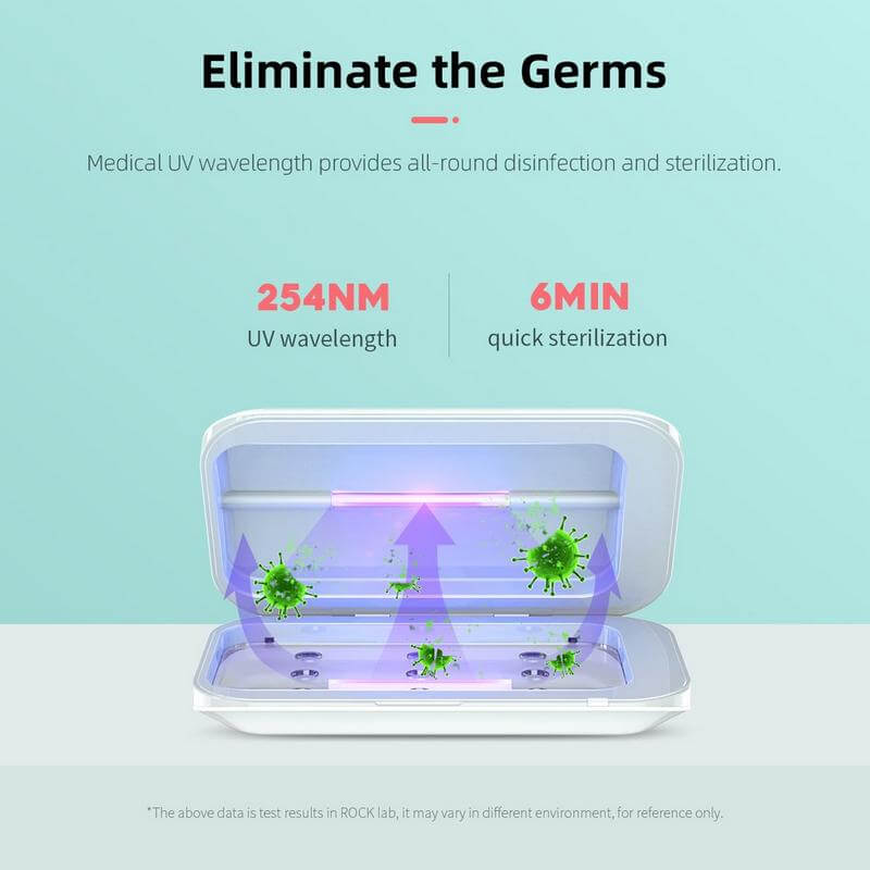 ROCK UV Phone Sanitizer - Kills 99.9% Bacteria on Your Phone in 6 Minutes
