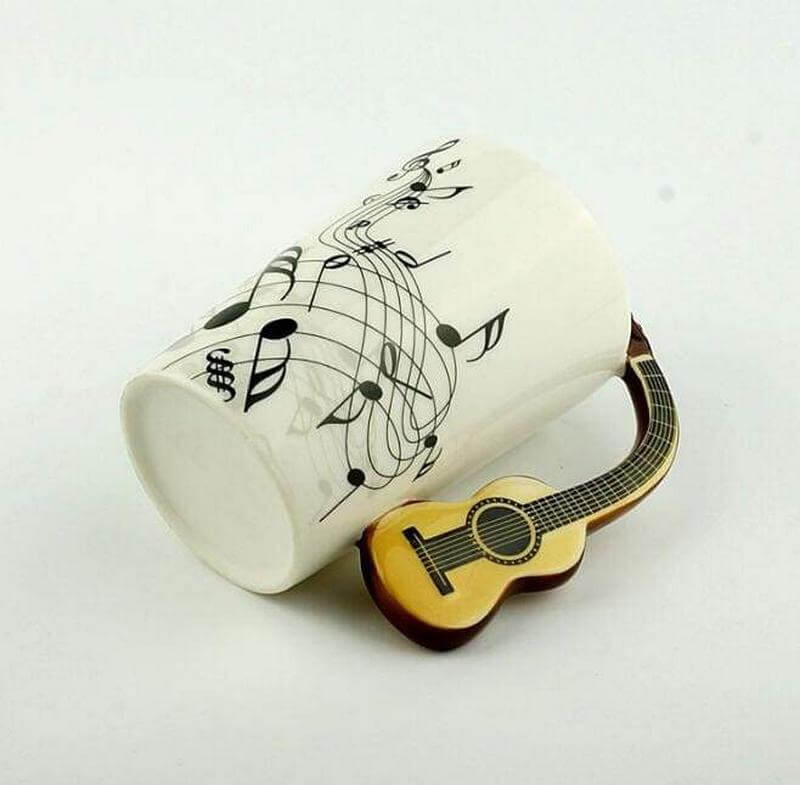Gifts for Guitar Players - Acoustic Guitar Mug
