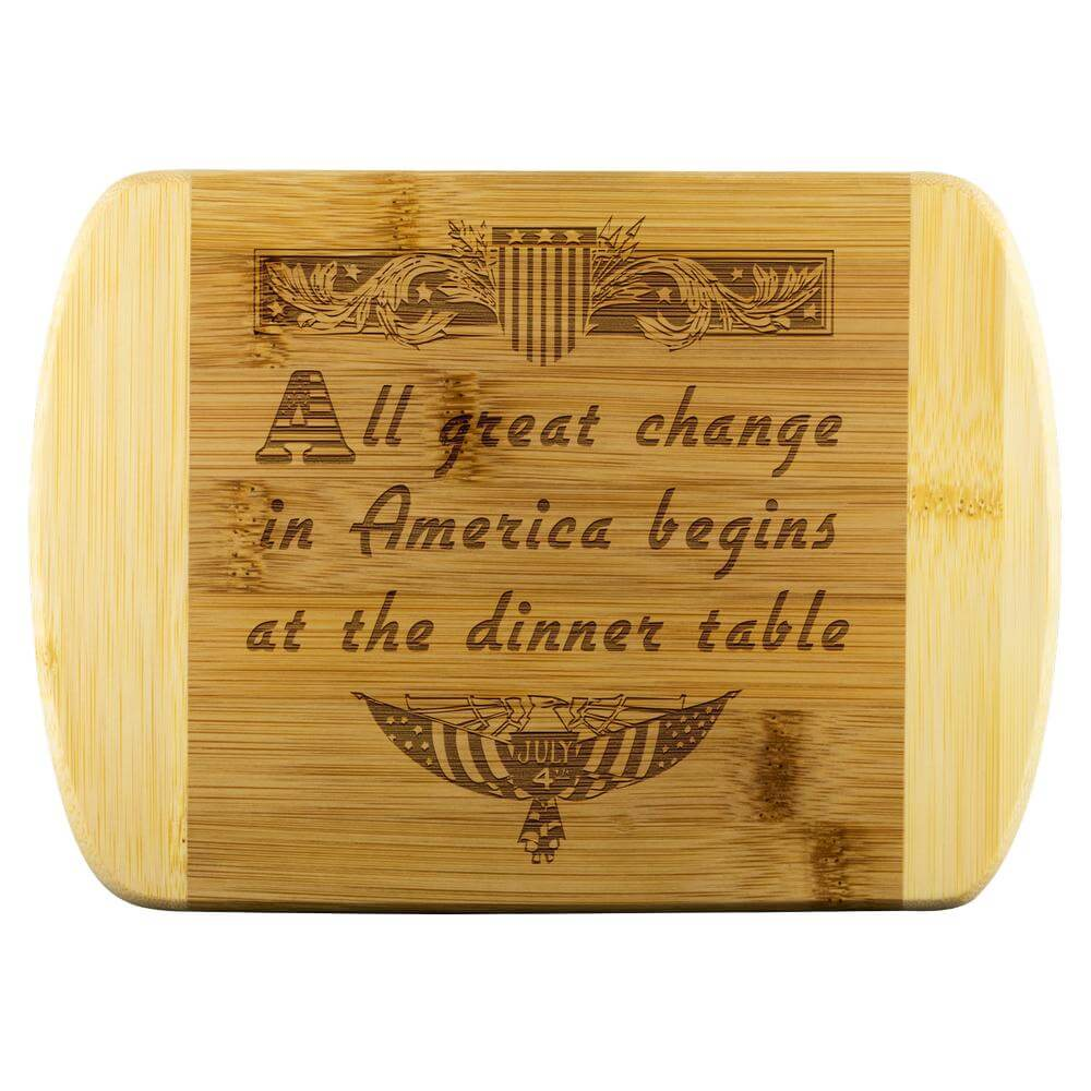 All Great Change in America Wood Chopping Board