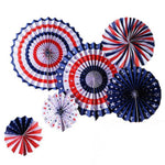 American Flag Tissue Paper Fans