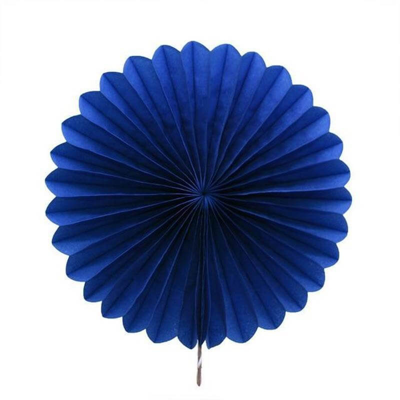 Blue Tissue Paper Fan
