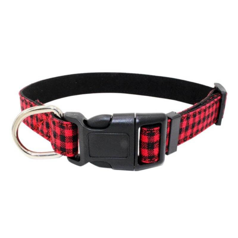 Buffalo Check Dog Collar
