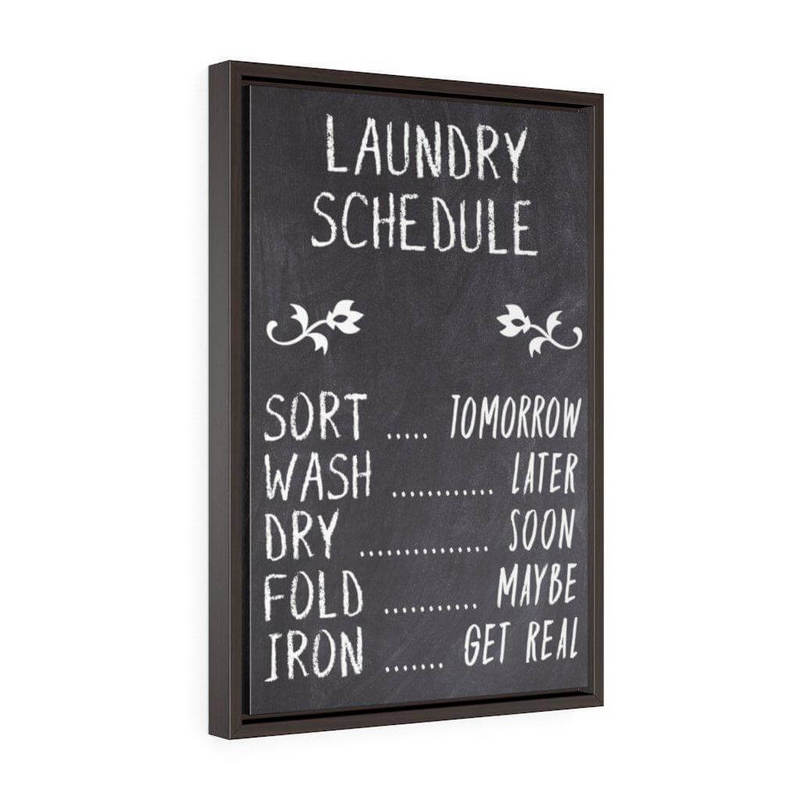 Chalkboard Laundry Sign