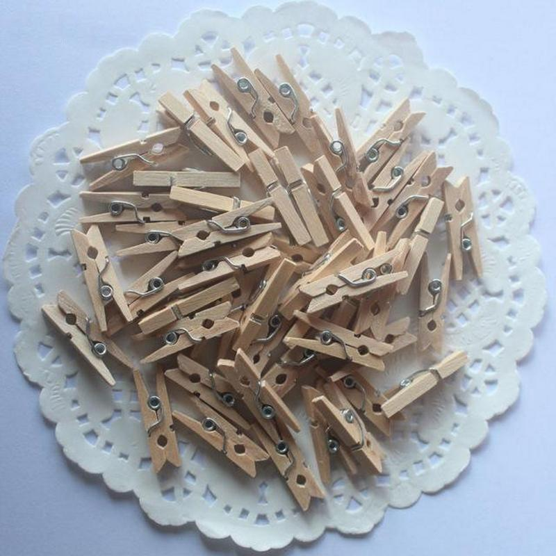 mini clothespins natural