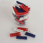 mini clothespins patriotic