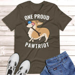 Corgi 4th of July Shirt Green