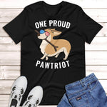 Corgi 4th of July Shirt Black