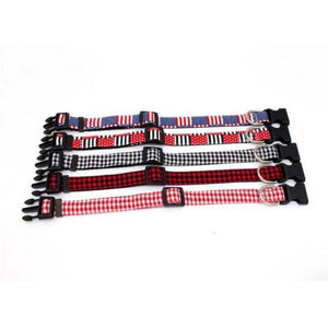 Gingham Dog Collar - Black