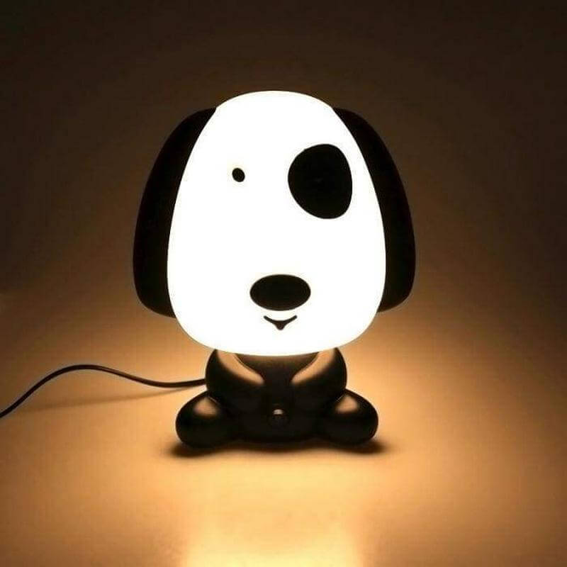 White Dog Lamp
