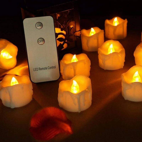 Flameless candles with remote control