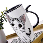 Spill proof cat mug
