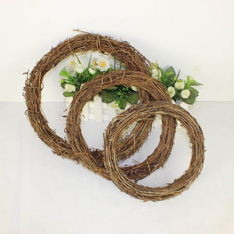 Grapevine wreath frame