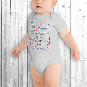 4th of July Baby Onesie Gray
