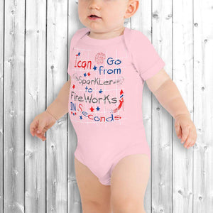 4th of July Baby Onesie Pink