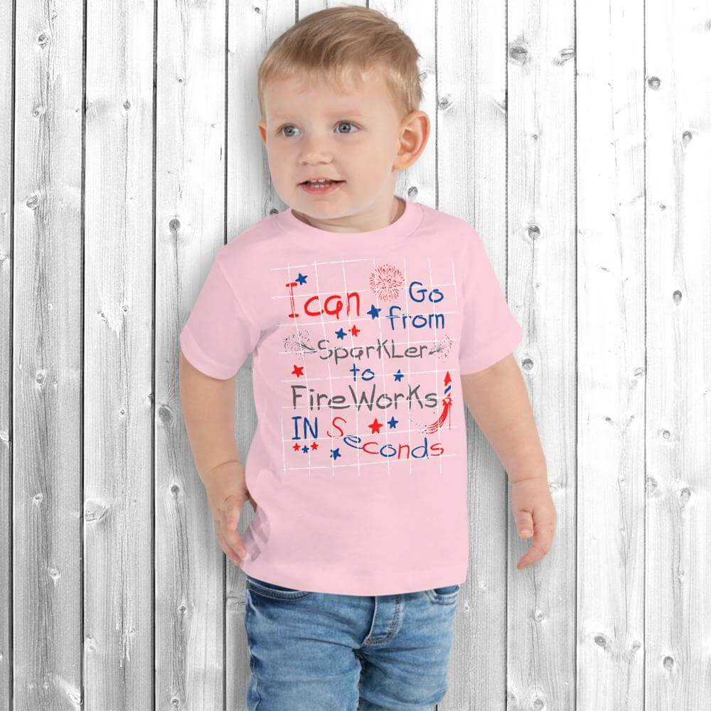 4th of July Boy T-Shirt Pink