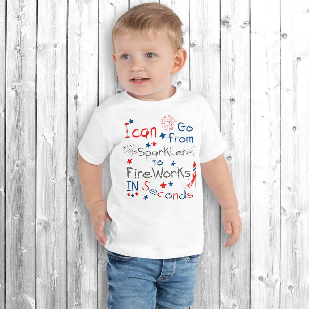 4th of July Boy T-Shirt White