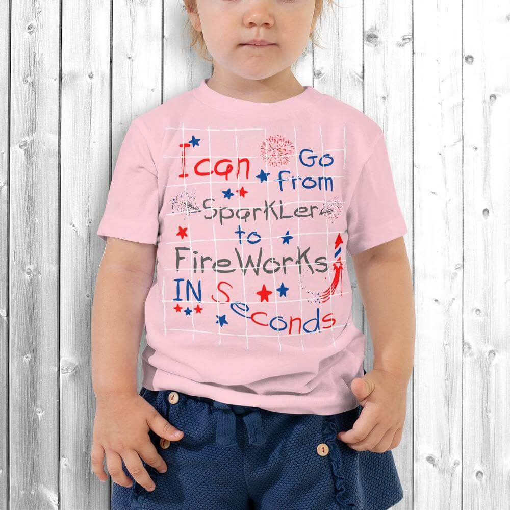 4th of July Girl T-Shirt Pink
