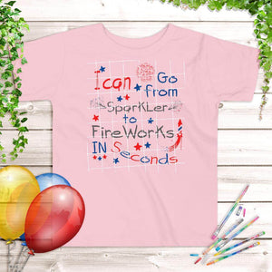 4th of July Kids' T-Shirt Pink