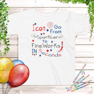 4th of July Kids' T-Shirt White