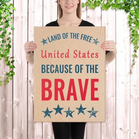 Land of the Free because of the Brave sign