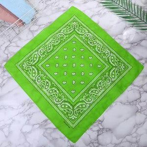 Light green paisley bandana