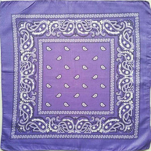 Light purple  paisley bandana