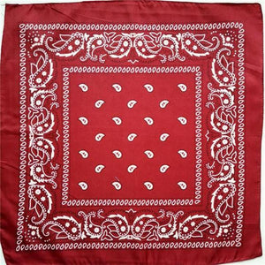 Dark red paisley bandana