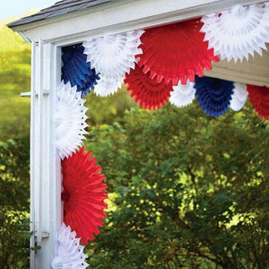 Patriotic Tissue Paper Fans decorations