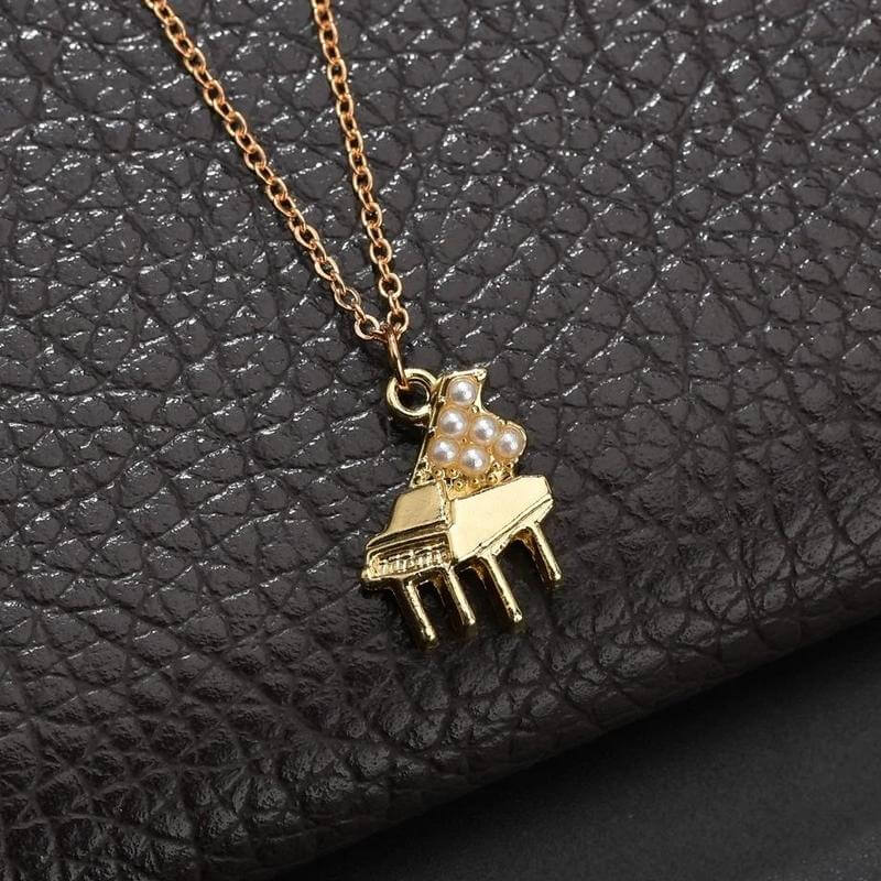 Piano necklace - Gifts for piano players