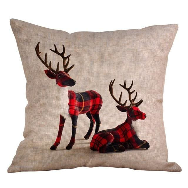 Flannel Deer Pillow Case - Mounteen.com