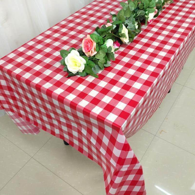 Red Buffalo Plaid Tablecloth