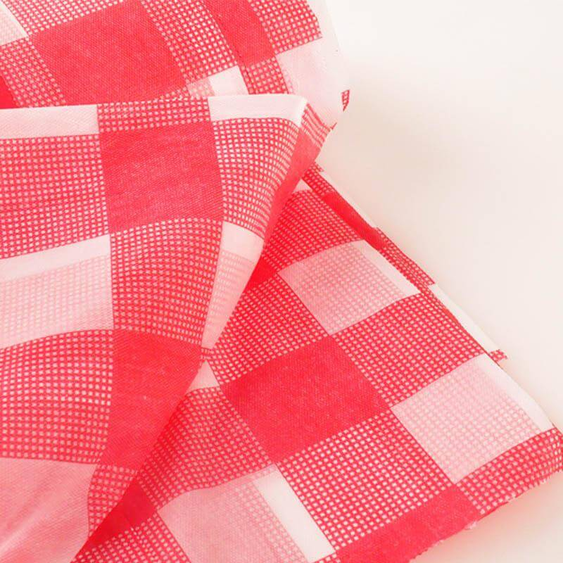 Red Buffalo Plaid Plastic Tablecloth
