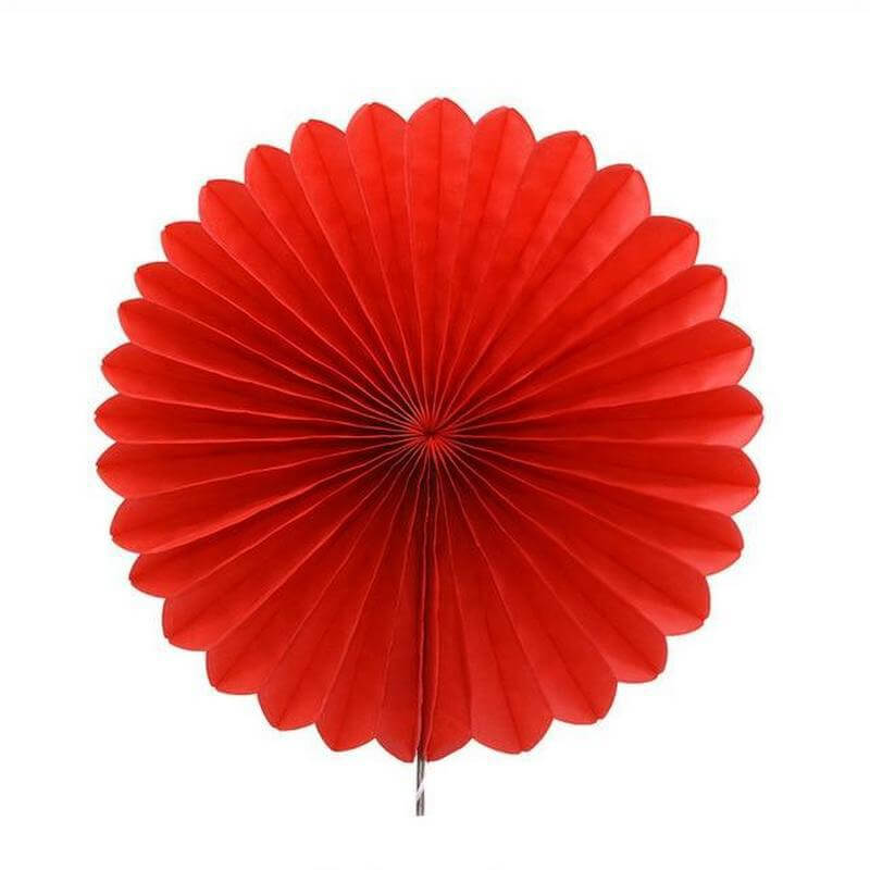 Red Tissue Paper Fan